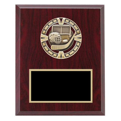 "Hockey Plaque - Varsity Medal mounted on Laminate Plaque 5"" x 7"" - Quest Awards"