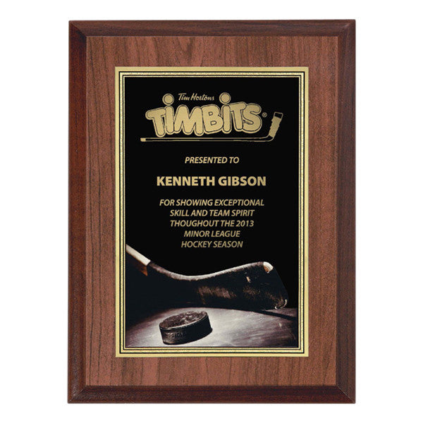 "Hockey Plaque - Full Colour Activity 6"" x 8"" (A2625) - Quest Awards"