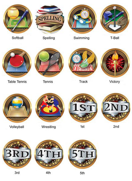 "Medallion - Insert Medal - Canada Flags - 2"" Diameter Holds 1"" Activity Insert (A2842)"