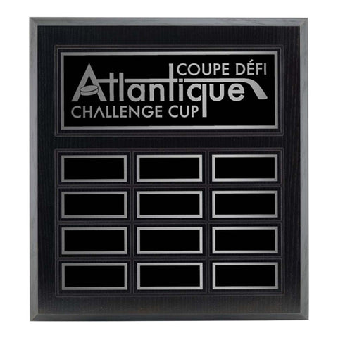 Annual Plaque - Black Ash Laminated Plaque - 12 Plates (A3511) - Quest Awards
