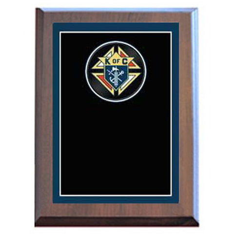 Plaque - Specialty - Knights of Columbus - Various Sizes and Laminated Finishes - Quest Awards