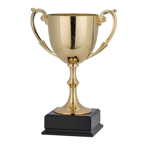 Cups - Nickel Plated - Gold Cup on Square Black Base (A3424) - Quest Awards