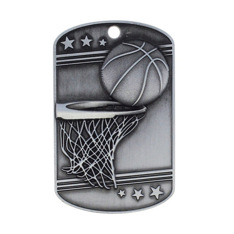 Basketball Medallion - Dog Tag