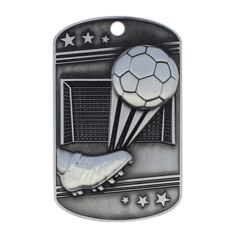 Soccer Medallion - Dog Tag - Quest Awards
