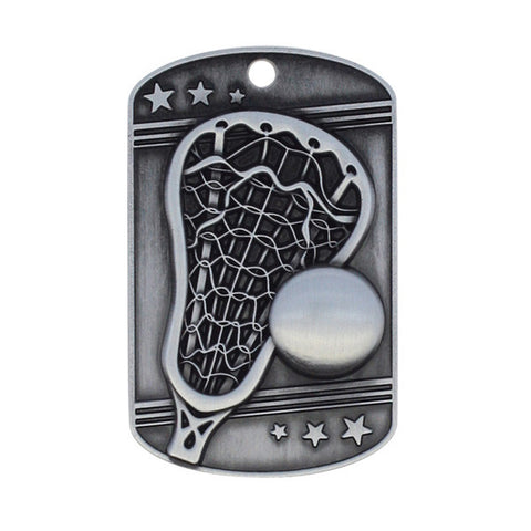 Lacrosse Medallion - Dog Tag