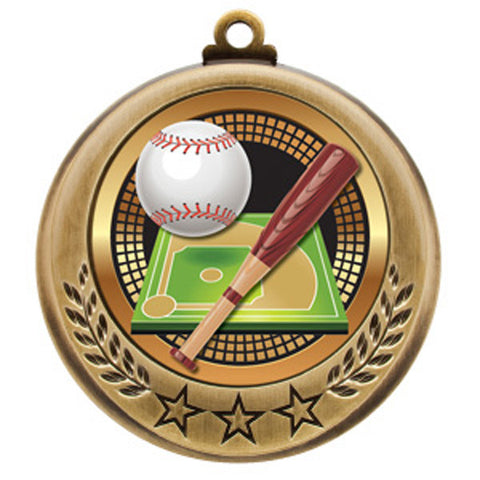 "Baseball Medallion - Spectrum Series - 2 3/4"" Diameter - Quest Awards"