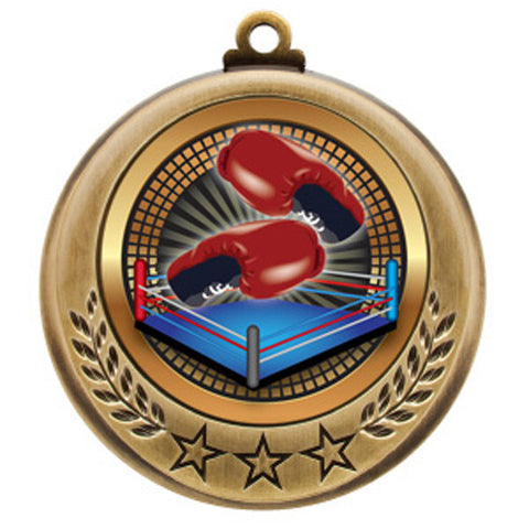 "Boxing Medallion - Spectrum Series - 2 3/4"" Diameter - Quest Awards"
