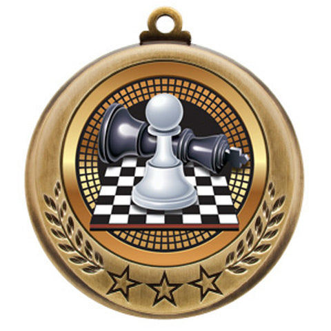 "Chess Medallion - Spectrum Series - 2 3/4"" Diameter - Quest Awards"