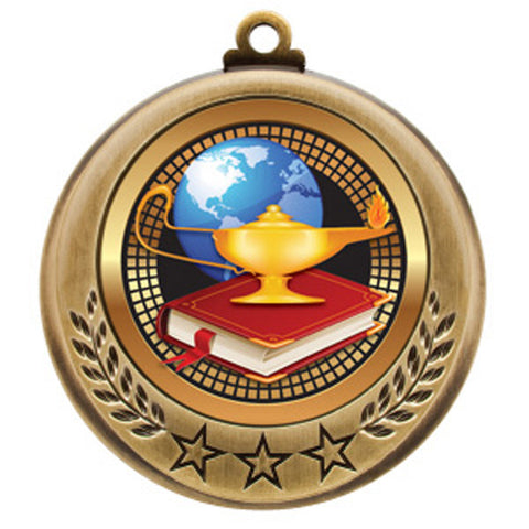 "Medallion - Spectrum Series - Lamp of Knowledge - 2 3/4"" Diameter - Quest Awards - 1"