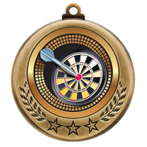 "Darts Medallion - Spectrum Series - 2 3/4"" Diameter (A2393) - Quest Awards"