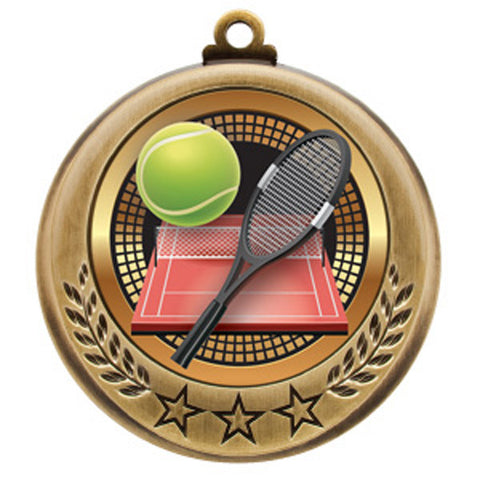 "Tennis Medallion - Spectrum Series - 2 3/4"" Diameter - Quest Awards - 1"