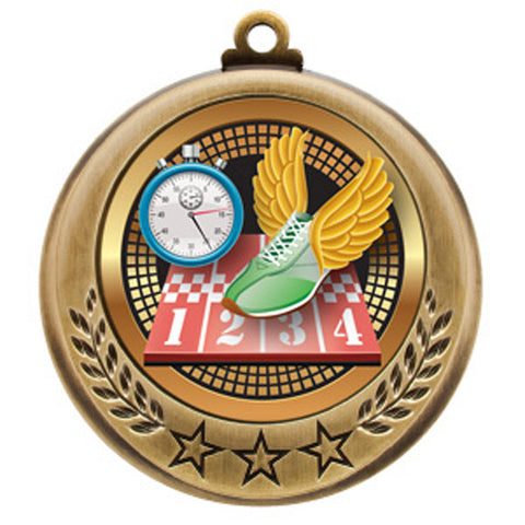 "Track Medallion - Spectrum Series - 2 3/4"" Diameter - Quest Awards - 1"