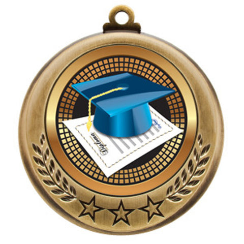 "Academic Medallion - Spectrum Series - Graduation -  2 3/4"" Diameter - Quest Awards"