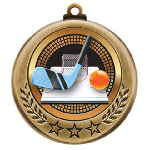 "Ball Hockey Medallion - Spectrum Series 2 3/4"" Diameter - Quest Awards"
