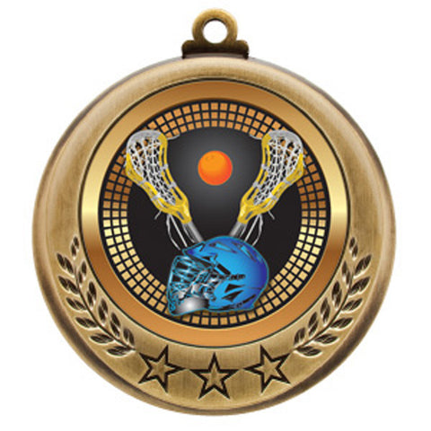 "Lacrosse Medallion - Spectrum Series - 2 3/4"" Diameter (A2749) - Quest Awards"