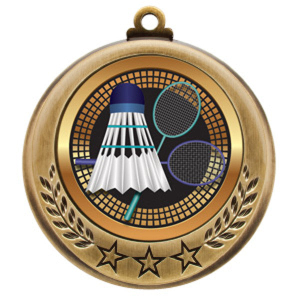 "Badminton Medallion - Spectrum Series -  2 3/4"" Diameter (A2146) - Quest Awards"