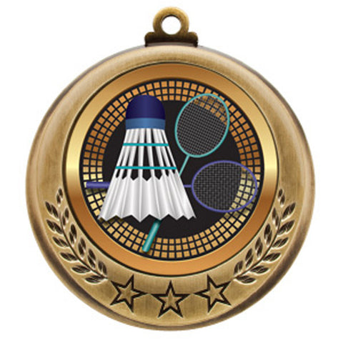 "Badminton Medallion - Spectrum Series -  2 3/4"" Diameter - Quest Awards"