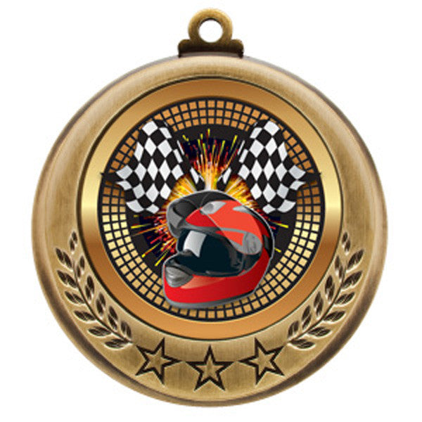 "Racing Medallion - Spectrum Series - 2 3/4"" Diameter - Quest Awards - 1"