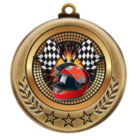 "Racing Medallion - Spectrum Series - 2 3/4"" Diameter (A2940) - Quest Awards"