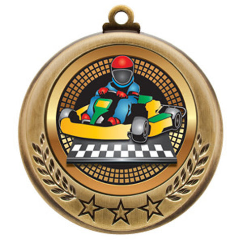 "Go-Kart Medallion - Spectrum Series - 2 3/4"" Diameter - Quest Awards - 1"