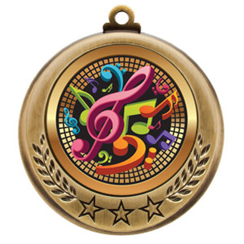 "Music Medallion - Spectrum Series - 2 3/4"" Diameter (A2865) - Quest Awards"