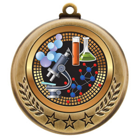 "Science Medallion - Spectrum Series - 2 3/4"" Diameter - Quest Awards - 1"