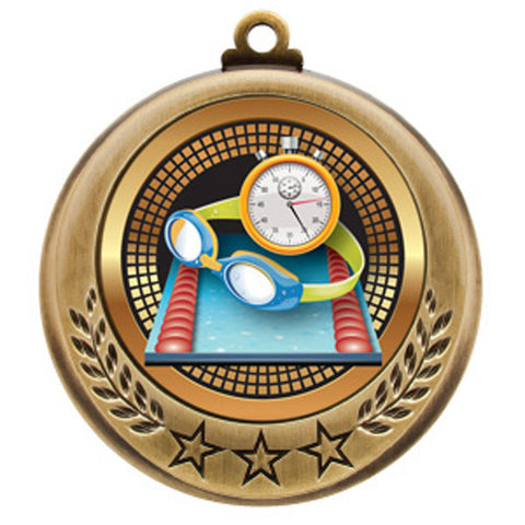 "Swimming Medallion - Spectrum Series - 2 3/4"" Diameter (A3091) - Quest Awards"