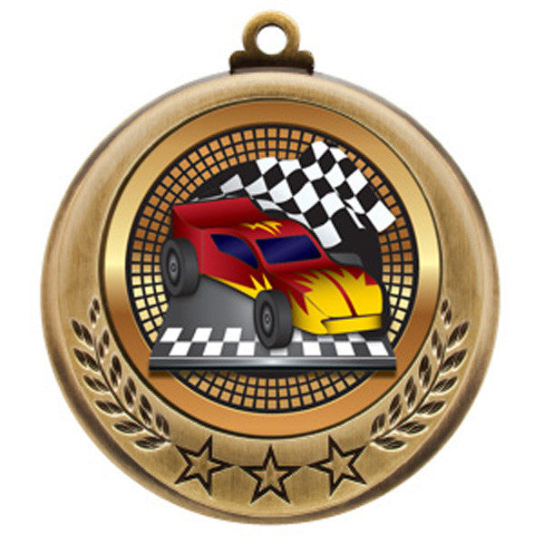 "Derby Medallion - Spectrum Series - Pinewood Derby -  2 3/4"" Diameter (A2400) - Quest Awards"