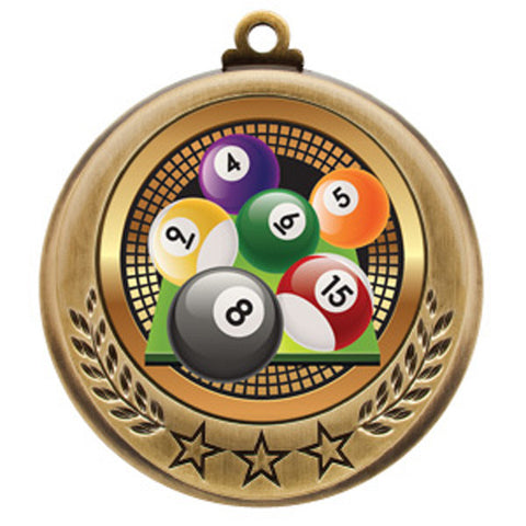"Billiards Medallion - Spectrum Series - 2 3/4"" Diameter - Quest Awards"