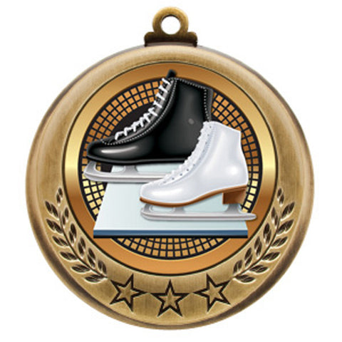 "Figure Skating Medallion - Spectrum Series - 2 3/4"" Diameter (A2403) - Quest Awards"