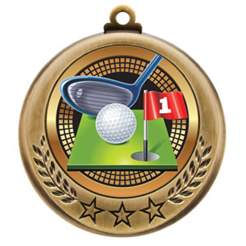 "Golf Medallion - Spectrum Series - 2 3/4"" Diameter - Quest Awards"