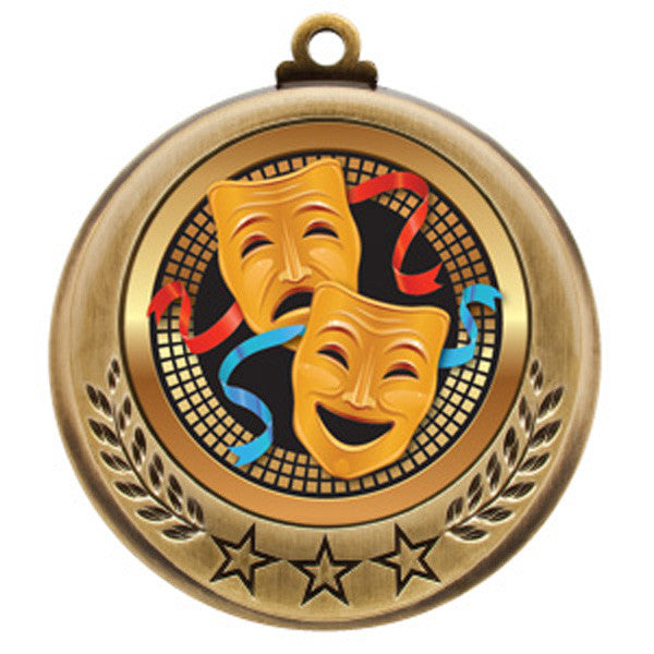 "Drama Medallion - Spectrum Series - 2 3/4"" Diameter - Quest Awards - 1"