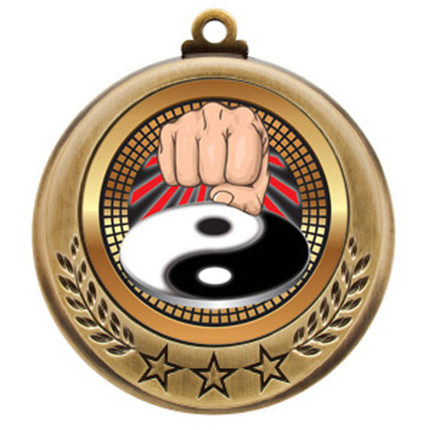 "Martial Arts  Medallion - Spectrum Series - 2 3/4"" Diameter - Quest Awards - 1"