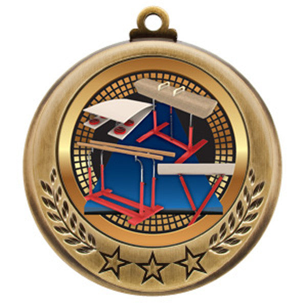 "Gymnastics Medallion - Spectrum Series - 2 3/4"" Diameter - Quest Awards"