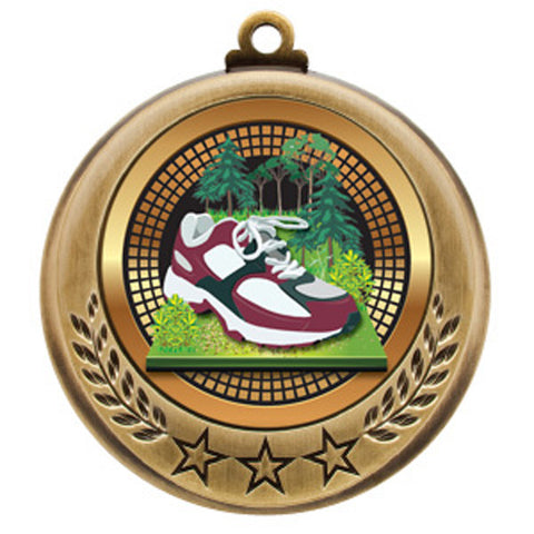 "Cross Country Medallion - Spectrum Series - 2 3/4"" Diameter - Quest Awards"