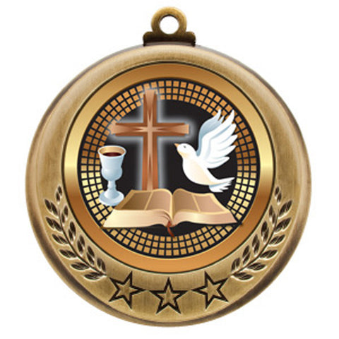 "Religion Medallion - Spectrum Series - 2 3/4"" Diameter - Quest Awards - 1"