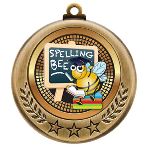 "Spelling Bee Medallion - Spectrum Series - 2 3/4"" Diameter (A3074) - Quest Awards"