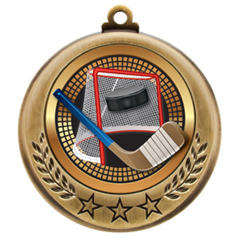 "Hockey Medallion - Spectrum Series - Hockey Net -  2 3/4"" Diameter (A2621) - Quest Awards"
