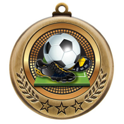 "Soccer Medallion - Spectrum Series - 2 3/4"" Diameter (A2990) - Quest Awards"