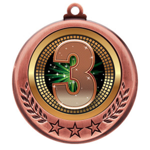 "Medallion - Spectrum Series - 3rd Place - 2 3/4"" Diameter (A2855) - Quest Awards"