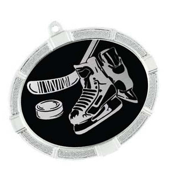 "Hockey Medallion - Impact Series - 3 3/8"" x 2 5/8"" (A2615) - Quest Awards"