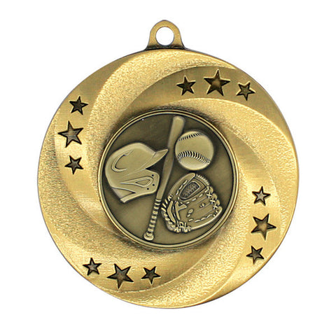 "Baseball Matrix Series Medal, 2"" Diameter (A2158) - Quest Awards"