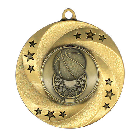 "Basketball Medallion - Matrix Series - 2"" Diameter - Quest Awards"