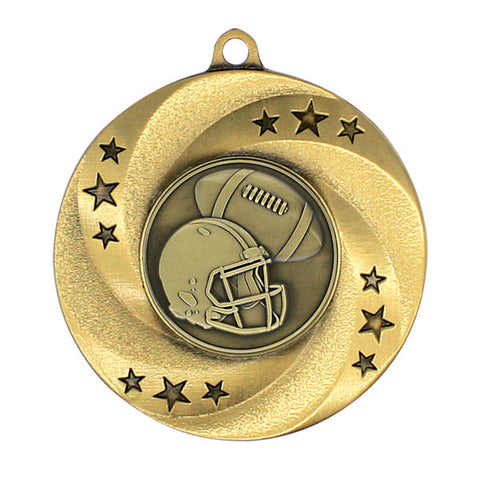 "Football Medallion - Matrix Series - 2"" Diameter - Quest Awards"