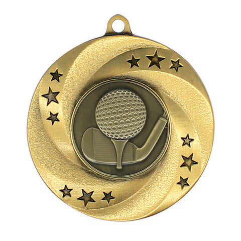 "Golf Medallion - Matrix Series - 2"" Diameter (A2574) - Quest Awards"