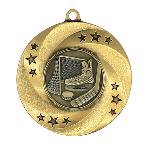 "Hockey Medallion - Matrix Series - 2"" Diameter - Quest Awards"