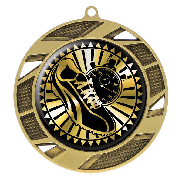 "Track Medallion - Solar Series Medal - Gold 2 3/4"" Diameter (A3124) - Quest Awards"