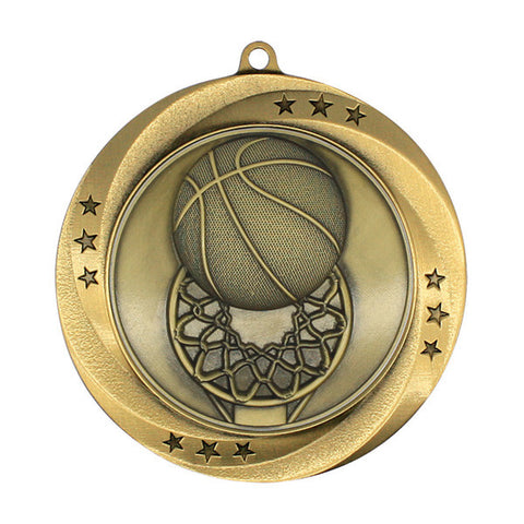"Basketball Medallion - Matrix Series - 2 3/4"" Diameter (A2200) - Quest Awards"