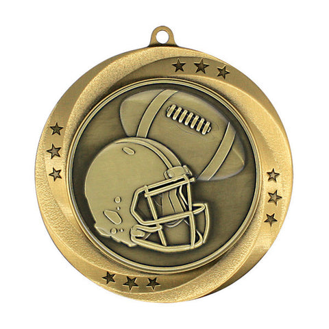 "Football Medallion - Matrix Series - 2 3/4"" Diameter - Quest Awards"