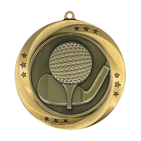 "Golf Medallion - Matrix Series - 2 3/4"" Diameter - Quest Awards"